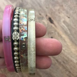 CHANEL Jewelry - Set of 4: Authentic Chanel Resin Bangle Bracelets